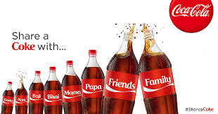 Photo showing share a coke promotion