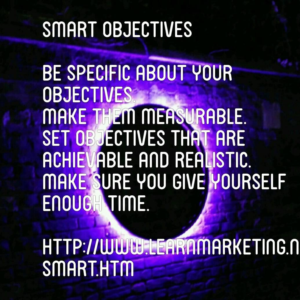 Smart Objectives Diagram